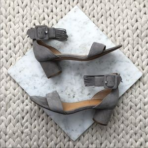 Corso Como Louisah Grey Suede Block Heeled Sandals